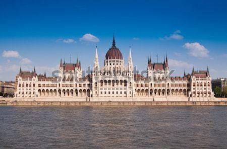 парламент дома здании городского красный реке Сток-фото © Fesus