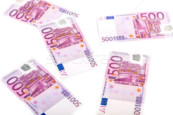 Euros argent banque affaires papier Photo stock © Fesus
