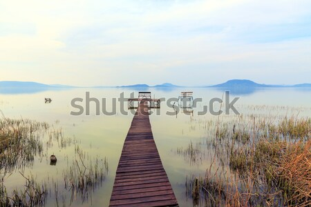 Pier lago Balaton céu Foto stock © Fesus