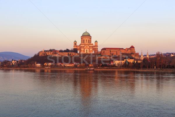 Bazylika Węgry miasta banku Zdjęcia stock © Fesus