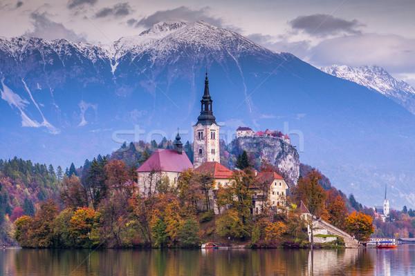 озеро Словения Европа острове замок гор Сток-фото © Fesus