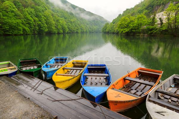 лодках озеро воды дерево весны древесины Сток-фото © Fesus