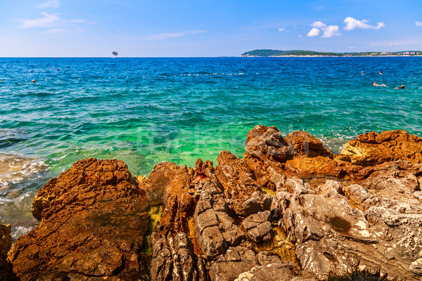Wild beach in Pula Stock photo © Fesus