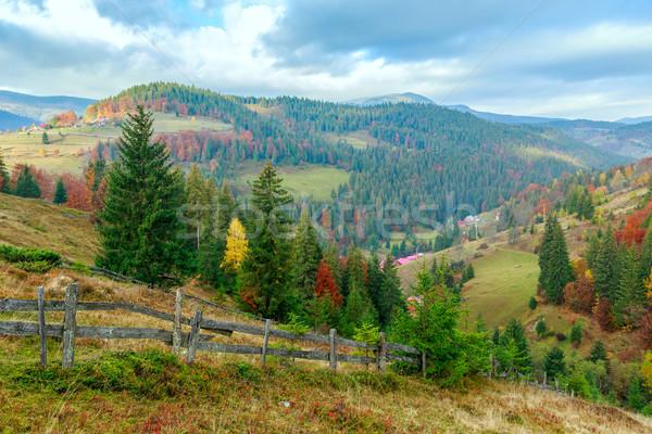 Yaz sabah dağlar ağaç bahar Stok fotoğraf © Fesus