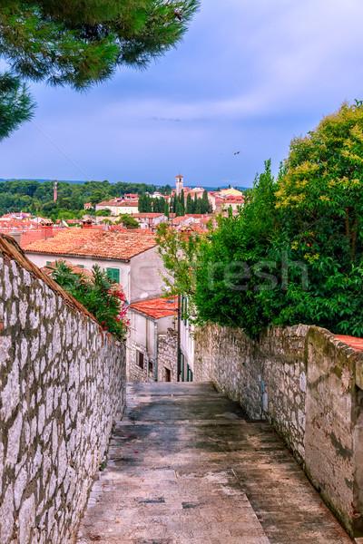 Medieval barrio antiguo Croacia estrecho calles Foto stock © Fesus