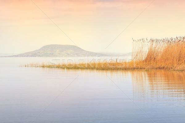 Beautiful sunset in lake Balaton Stock photo © Fesus