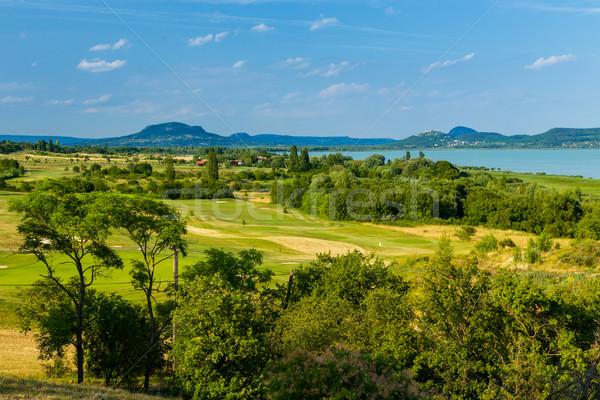 Landscape at Lake Balaton Stock photo © Fesus