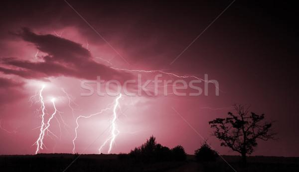 Big thunderbolt Stock photo © Fesus
