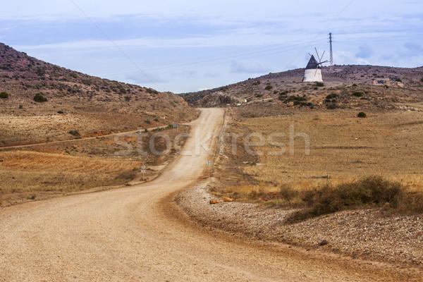 Spanyol tájkép elhagyatott vidéki hegyek agavé Stock fotó © Fesus