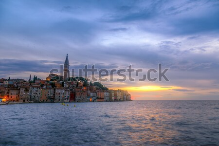 旧市街 1泊 海 美しい 日没 海岸 ストックフォト © Fesus