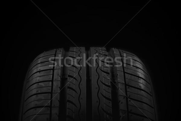 Coche neumático negro textura fondo carrera Foto stock © Fesus