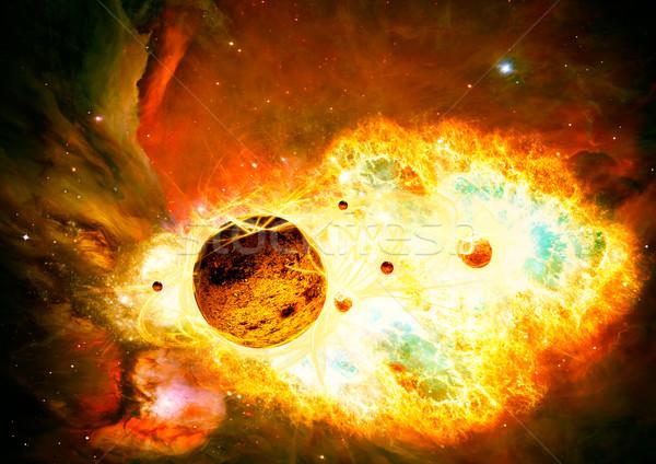 Magical space and nebula  art galaxy creative background Stock photo © Fesus