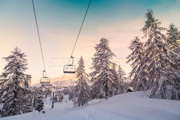 Ski centre alpes Slovénie naturelles parc Photo stock © Fesus