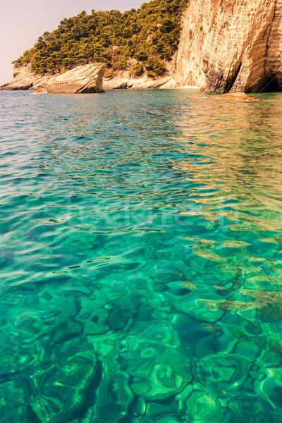 Piękna morza krajobrazy zakynthos wyspa Grecja Zdjęcia stock © Fesus