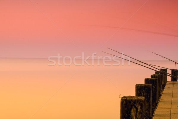 Piękna wygaśnięcia jezioro Balaton kolor stylu Zdjęcia stock © Fesus