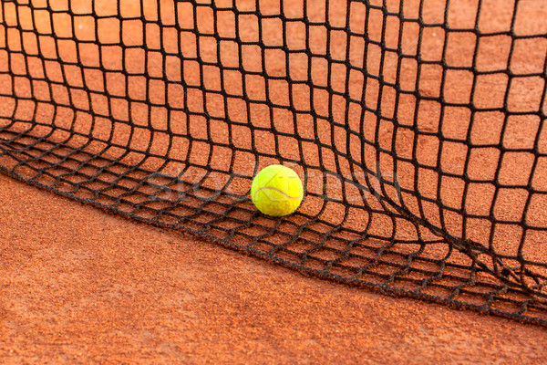 Tennisbal tennis klei rechter sport fitness Stockfoto © Fesus