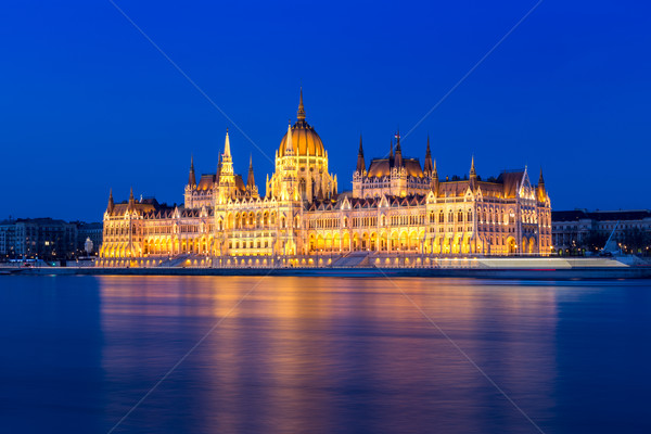 Hungarian parliament in Budapest Stock photo © Fesus