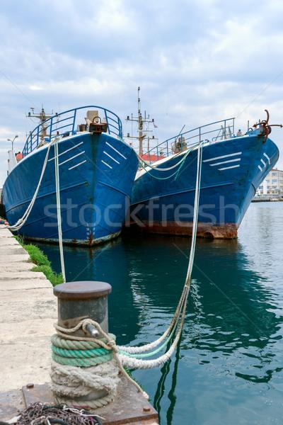 Stock photo: Fishing ships in the port of Pula, Istria, Croatia