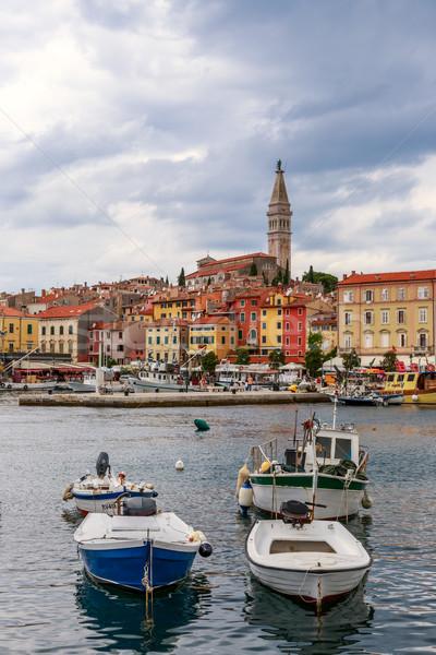 Rovinj old town in Adriatic  sea coast of Croatia Stock photo © Fesus