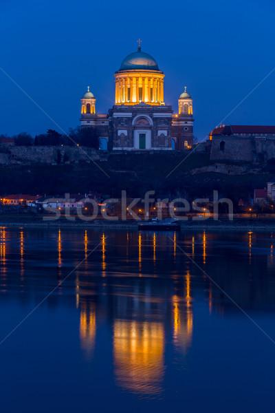 Basílica Hungría ciudad banco Foto stock © Fesus