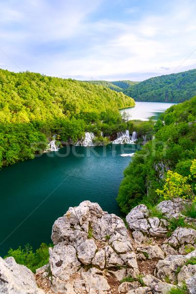 Hırvatistan park yaz çim doğa manzara Stok fotoğraf © Fesus