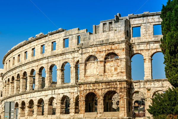 Famous amphitheater in Pula, Croatia Stock photo © Fesus