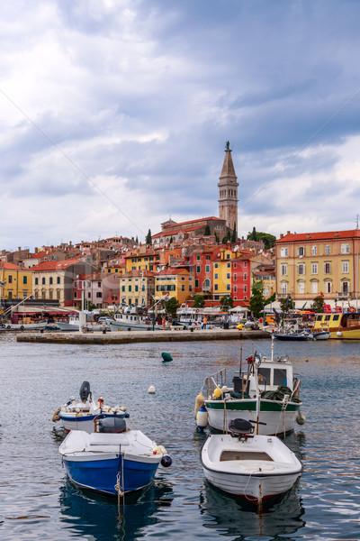 ストックフォト: 旧市街 · 海 · 海岸 · クロアチア · ヨーロッパ · 水