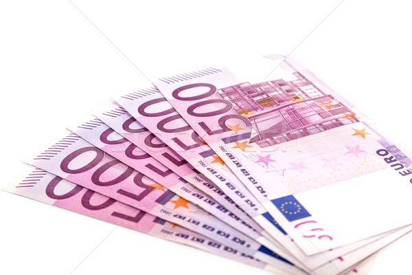 евро деньги банка бизнеса бумаги Сток-фото © Fesus