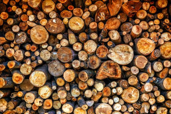 切り 薪 準備 冬 木材 ストックフォト © Fesus