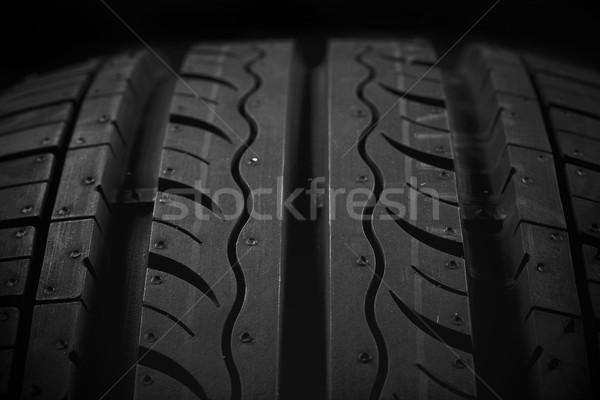 Foto stock: Carro · pneu · preto · textura · fundo · raça