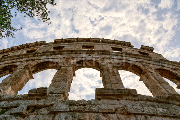 Zdjęcia stock: Słynny · amfiteatr · Chorwacja · starożytnych · Roman · arena