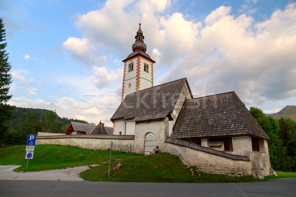 Church of St John the Baptist, Bohinj Lake, Slovenia Stock photo © Fesus