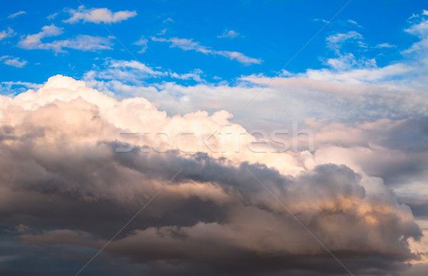 Verbazingwekkend wolk formatie diep blauwe hemel zon Stockfoto © Fesus