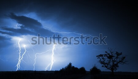 Big thunderbolt Stock photo © Fesus