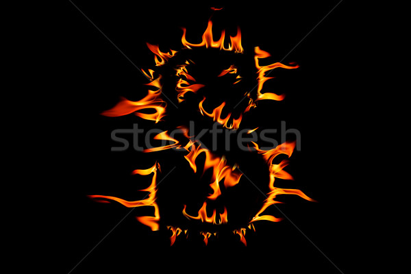 Fire flaming letter 'S' Stock photo © Fesus