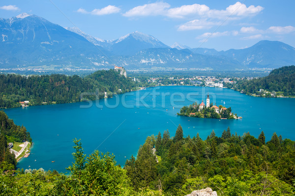 Bled with lake in summer, Slovenia Stock photo © Fesus