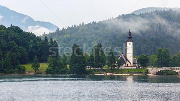 Bohinj Lake in summer Stock photo © Fesus