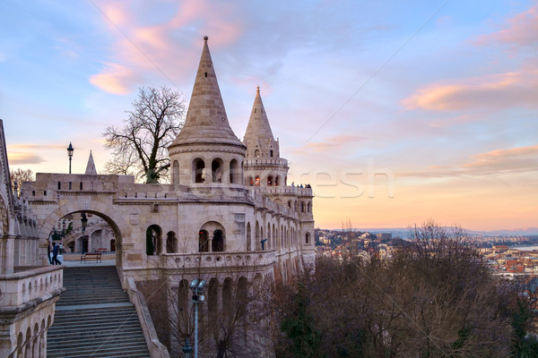 Bastion Budapeszt Węgry niebo budynku wygaśnięcia Zdjęcia stock © Fesus