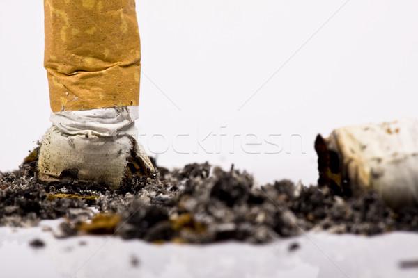 Sigara kırık stüdyo yaşam tarzı sarı tehlike Stok fotoğraf © Fesus