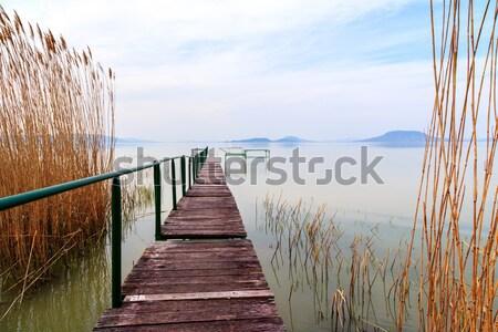 Muelle lago Balaton cielo Foto stock © Fesus