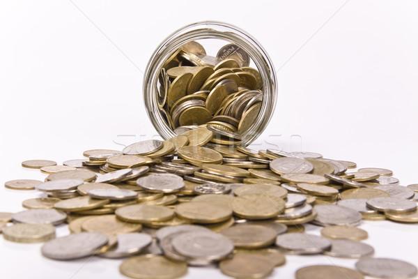 Сток-фото: банку · монетами · бизнеса · деньги · металл · бутылку