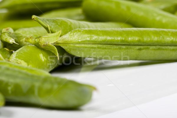 Zöldborsó étel természet zöld piac eszik Stock fotó © Fesus