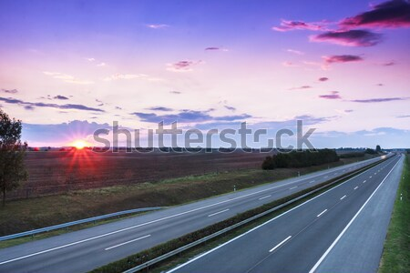 Sunset highway Stock photo © Fesus