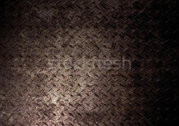 Gyémánt fém textúra ipar ipari tapéta Stock fotó © Fesus