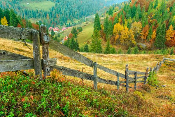 Maravilloso otono ladera naturaleza verano nube Foto stock © Fesus
