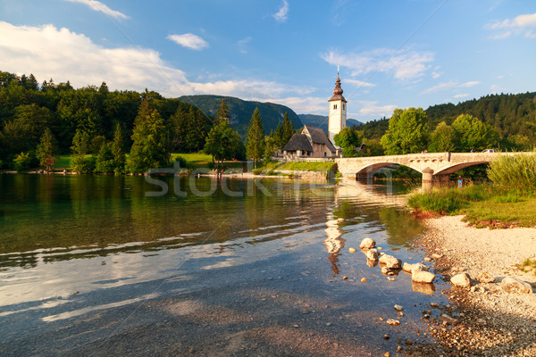 Church of St John the Baptist, Bohinj Lake Stock photo © Fesus