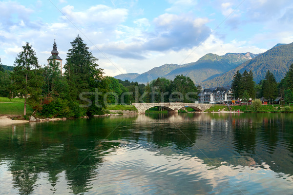 Lake Bohinj, located in the Bohinj Valley of the Julian Alps Stock photo © Fesus