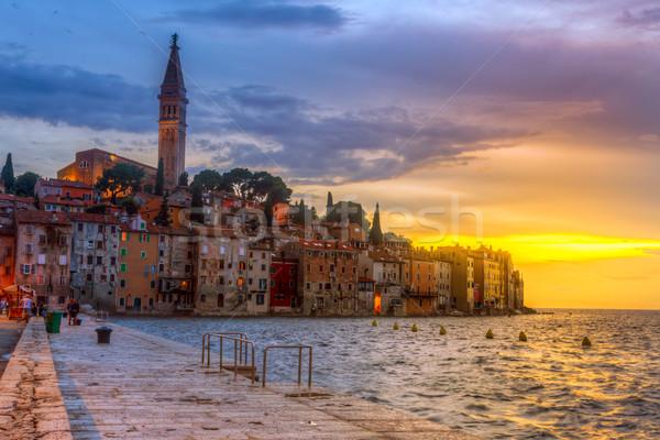 旧市街 1泊 海 海岸 クロアチア ヨーロッパ ストックフォト © Fesus