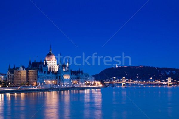 Night lights in Budapest-Hungary  Stock photo © Fesus
