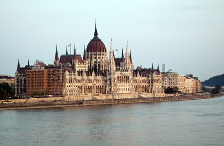 Húngaro parlamento Budapeste crepúsculo azul hora Foto stock © Fesus